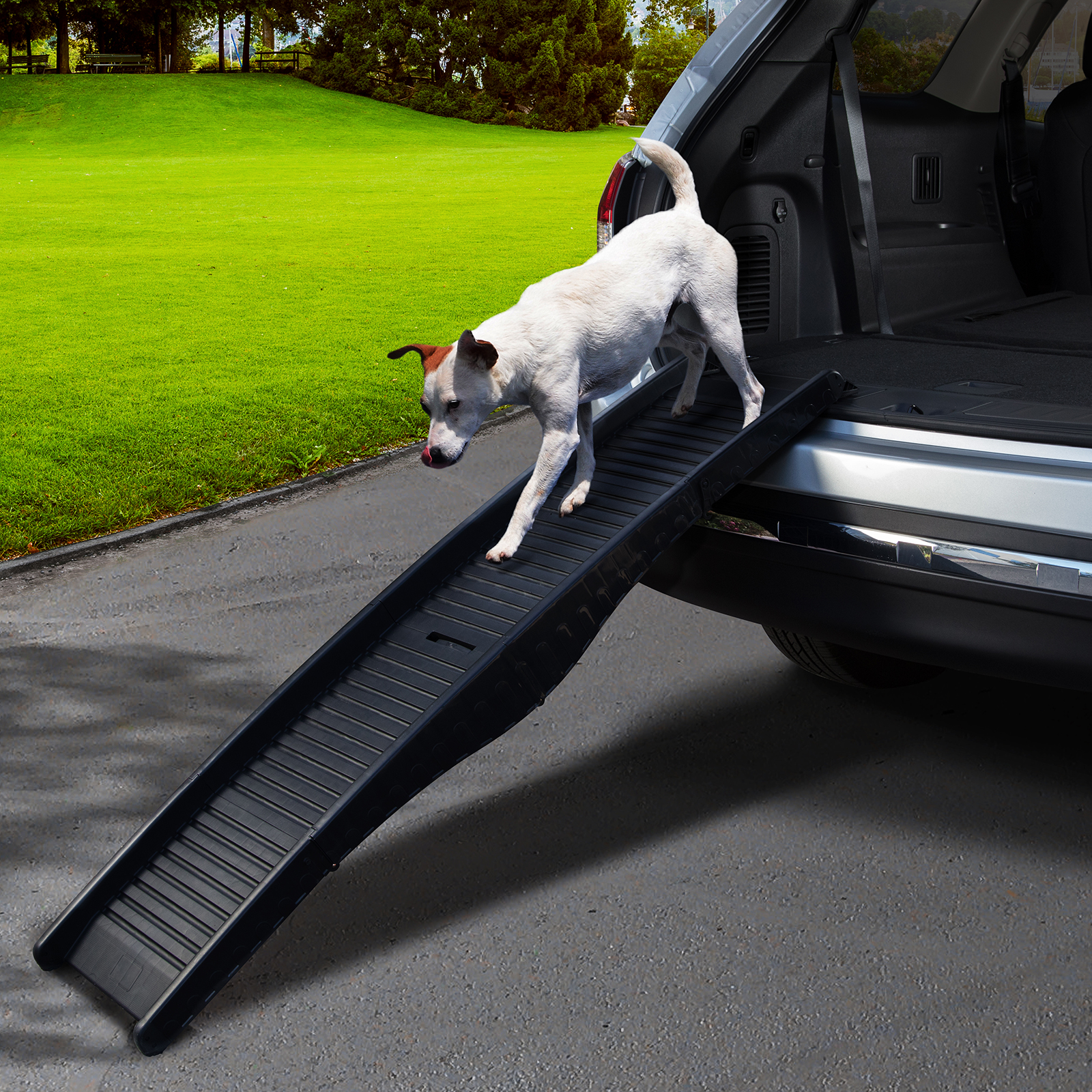 Foldable Dog Ramp For Car Truck Suv Backseat Stair Steps