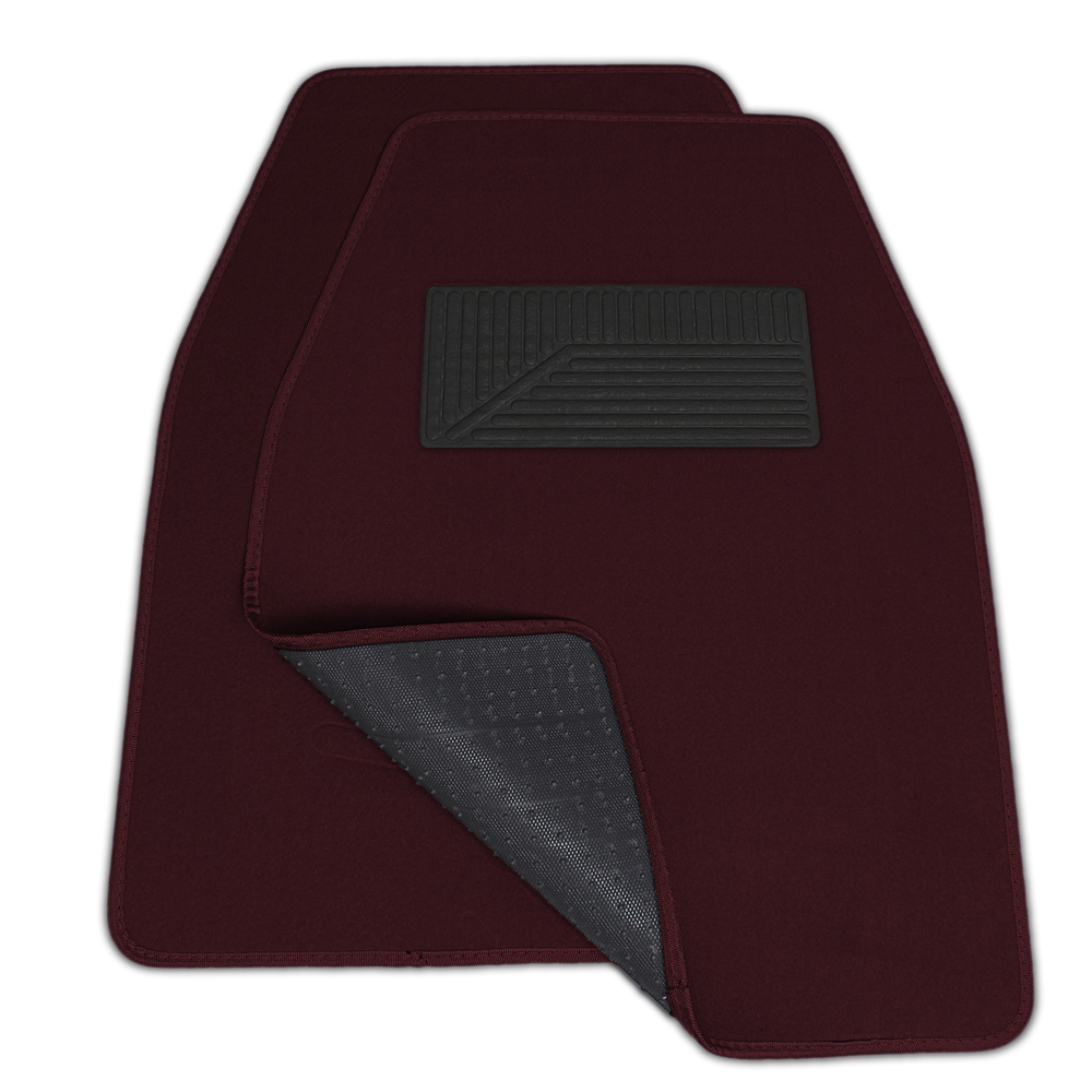 3pc Set Dark Red Burgundy Maroon Carpet Auto Car Liner